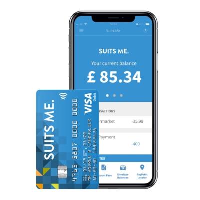Suits Me Mobile Banking App with Visa Prepaid Debit Card