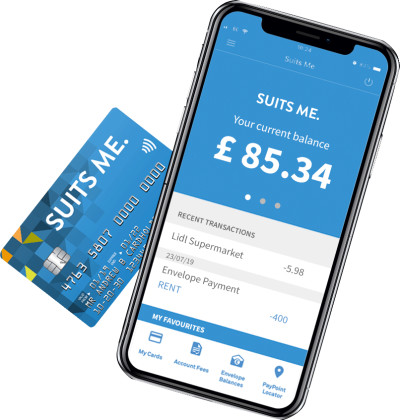 The Suits Me Mobile Banking App and Prepaid Debit Card