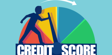 Credit Score Dial from Bad to Good