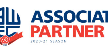 Red and blue Bolton Wanderers Associate Partner Logo