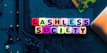 Cashless Society on a Digital Board with a Debit Card