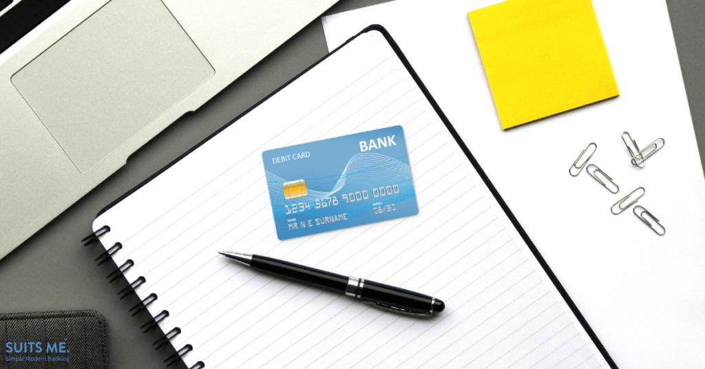 Debit Card on notepad