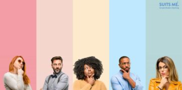 Group of women and man with confused expressions, banking terms confusion concept