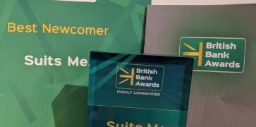 Suits Me Highly Commended Best Newcomer British Bank Award