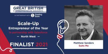 Matthew Sanders Great British Entrepreneur Award 2021 Finalist