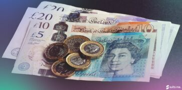 British Bank Notes and Coins. Money and Banking Concept